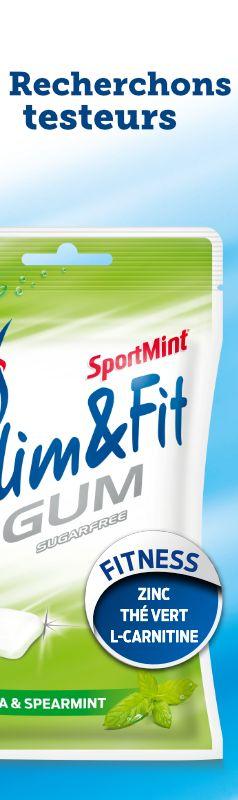 Pose ta candidature pour faire partie du cercle d'initiés invités à tester les SportMint Slim&Fit Gums.