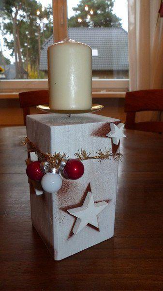 Kerzenständer Holz Weinflasche ~   Adventslicht aus Holz  ein Designerstück von Andy1968 bei DaWanda