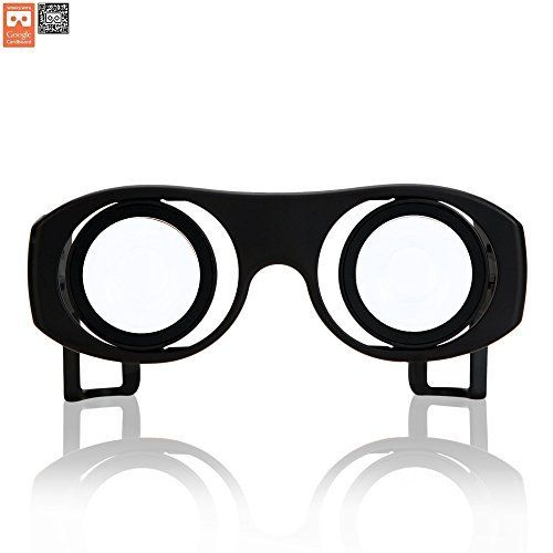 Virtual Reality Goggles Goggle Tech C1-Glass 3D Glasses for 3D Images & Videos on Android & iOS Smartphones (Black V2):   Experience 3D images and videos on your Android phones. Made with planaconvax lens, this is truly a handy device that works best in a 2560 x 1440 QHD resolution. Glasses are able to function through apps available through Google Play store. Compatible up to 6 inches displays.p/Goggle Tech is a company provides 3D stereoscopic solution for mobile environment. It manu...