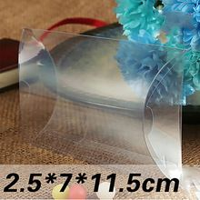 Groothandel 100 stks * 2.5 7*11.5 cm clear pvc kussen dozen bruiloft gunst/baby shower/bridal candy geschenkdoos goedkope souvenir verpakking(China (Mainland))