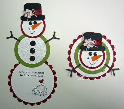 Cute SU snowman card with tutorial