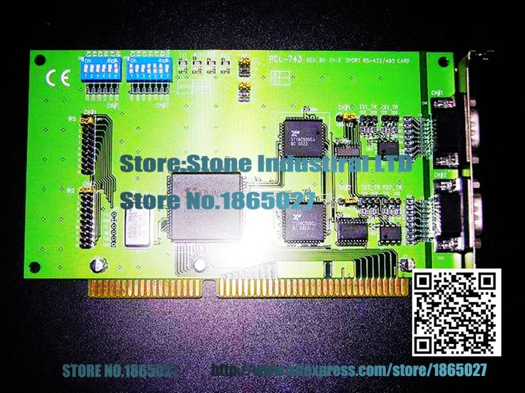 PCL-743B2 port high speed RS-422/485 communication card 100% test good quality