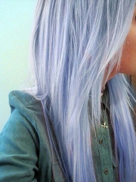Pale Pastel Blue Hair
