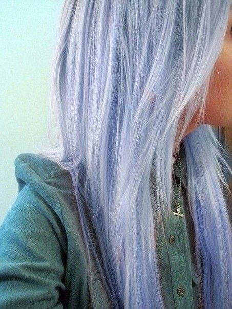 Pale Pastel Blue Hair