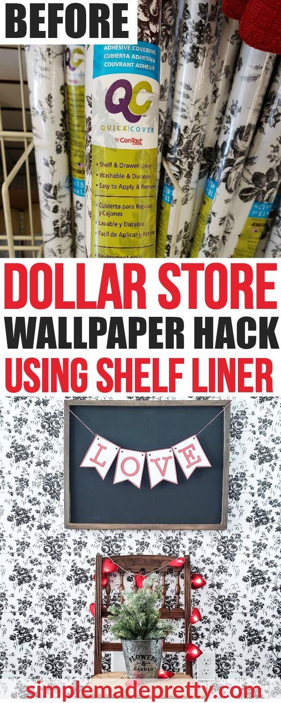 Dollar Store Hack Peel And Stick Wallpaper Dollar Store Diy Dollar Store Hacks Dollar Stores