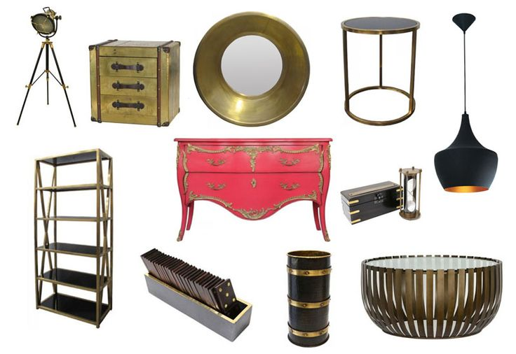 Brass - With its rich gleam and sculptural weight, this metal is experiencing a resurgence. With so many designers looking to the '70s, it's inevitable that brass and bronze will show up more. Brass is the metal of the moment. A glimpse of some of our new pieces featuring Brass accents.