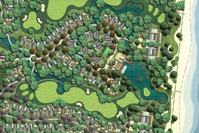 48 best images about master plan on pinterest villas for Villa landscape plan
