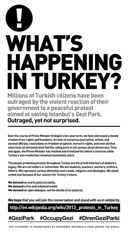 Whats Happening In Turkey? (the crowd-funded ad for the NYTimes)