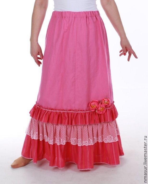 Сшить длинную юбку из льна