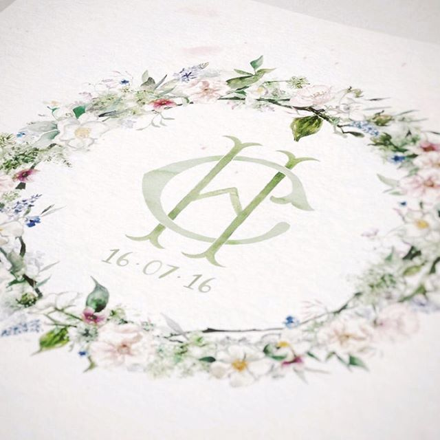 There's something rather romantic about floral wreaths  .  .  .  #bespokedesign #weddingwreath #wedding #bespoke #handpainted #watercolor #watercolour #crest #customwedding #customwreath #monogram #weddinglogo #floral #customillustration #weddingstationery #initials #weddingtheme #stationery #weddingideas #brides #bespokewedding #weddinginspiration #customdesign #handpainted #weddingdetails #weddingart #watercolorcrest #florals #romanticflorals