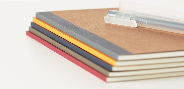These Muji notebooks are cheap, well-crafted and the perfect size. They eat other notebooks for breakfast. I'm talking to you, Moleskine.