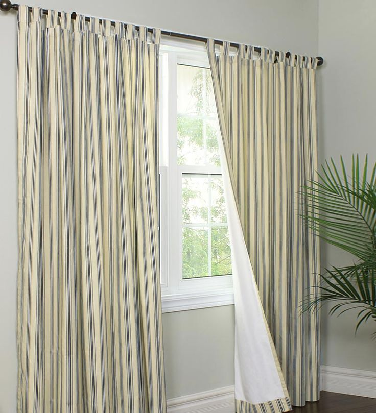 thermalogic energy efficient insulated tabtop triple stripe curtains and valance