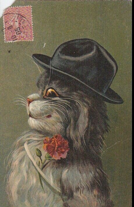 Cat Postcard by Maurice Boulanger