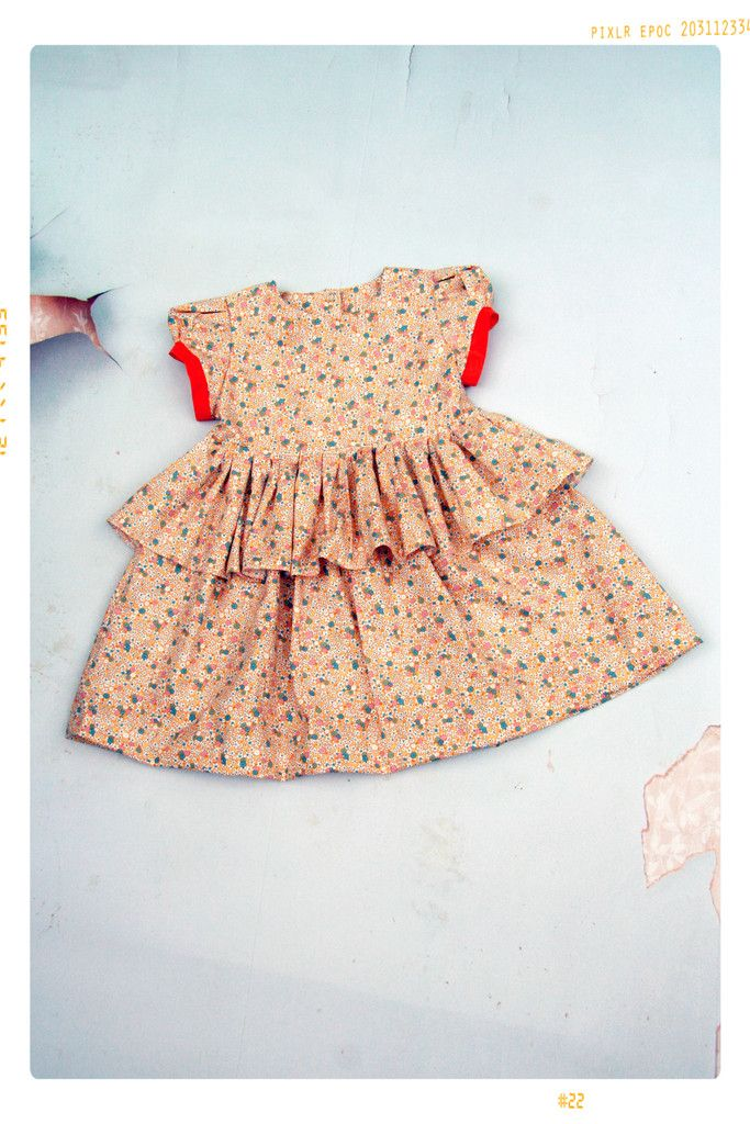 The Citrus Pop Girls Floral Cotton Ruffle Skirt Dress – Fleur + Dot Made in the USA. FleurandDot.com