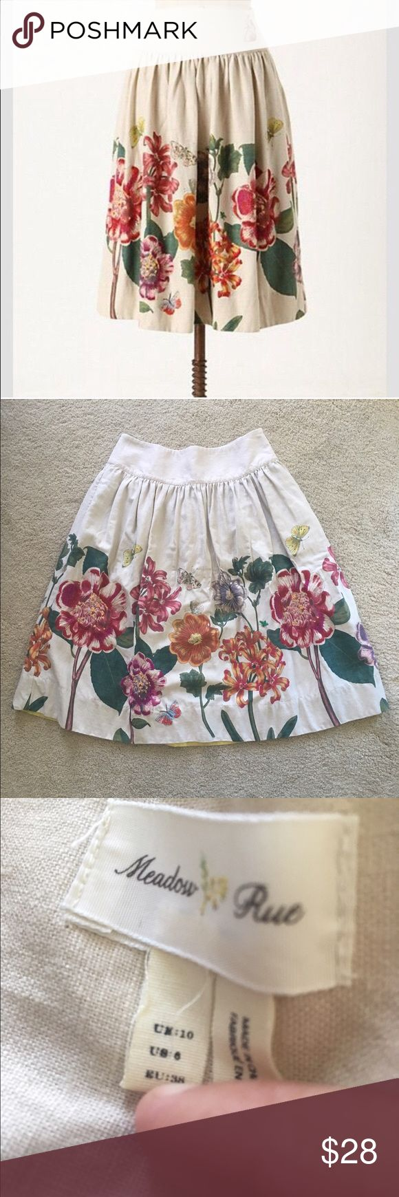 Anthropologie Last Blooming Skirt, 6, Meadow Rue This is the Last Blooming Skirt from Anthropologie, by Meadow Rue. Size 6, in excellent condition. This is a re-posh (I should have bought a 4). Anthropologie Skirts A-Line or Full