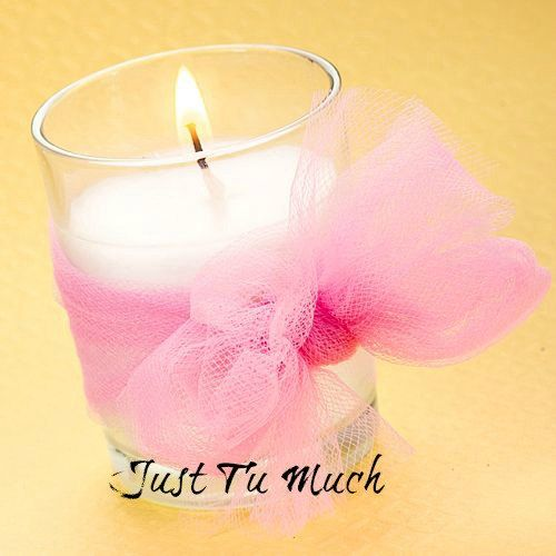 Tulle Wrapped Votive Candles Tutu Candle Party Favor For