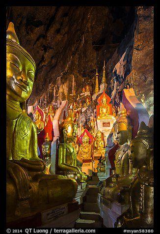 Labyrinth of buddha images in Pindaya Caves. Pindaya, Myanmar