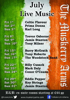 Our live music for July