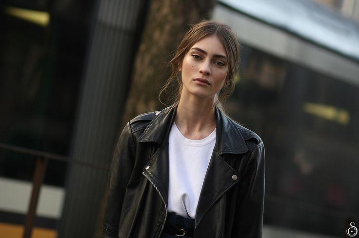 Marine Deleeuw after Dolce & Gabbana Fall/Winter 2014-15 ...