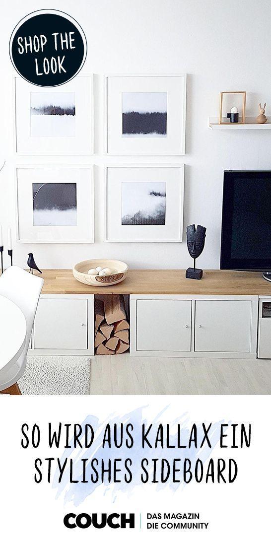 Ikea-Hack #3: Kallax wird zum stylishen TV-Lowboard
