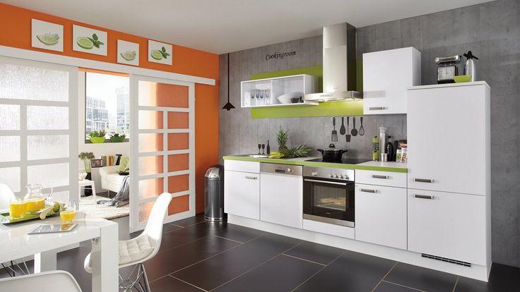 Moderne keuken in rechte opstelling - Afbeelding 1 van 3