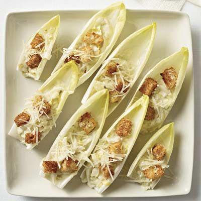 Caesar Salad Spears #reinvention #fingerfood