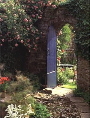 if i could just replicate the secret garden- an old door with