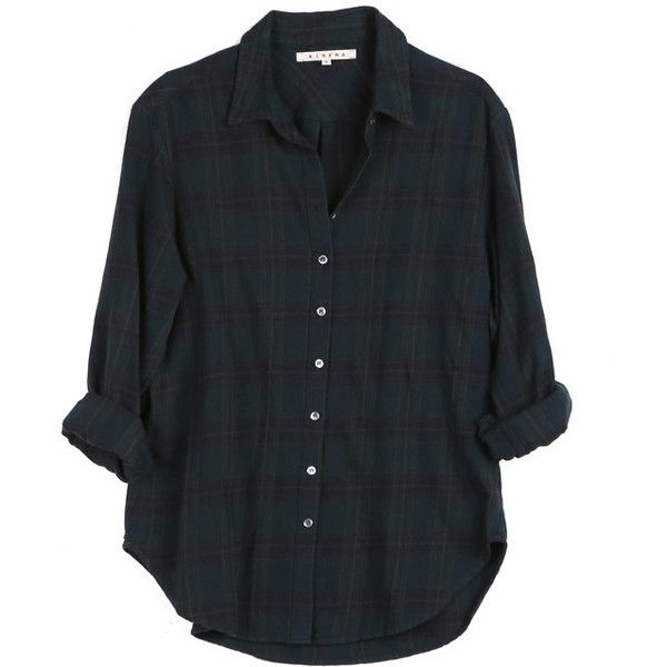 Xirena Beau Flannel Shirt found on Polyvore featuring tops, shirts, blouses, tartan shirt, flannel shirt, oversized tops, shirts & tops and tartan plaid shirt
