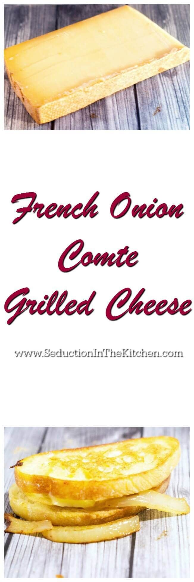 French Onion Comte Grilled Cheese was created for #NationalGrilledCheeseDay. This sandwich was inspired by French Onion Soup. #Comte is perfect for this cheesy sandwich! #makeitmagnifique via @SeductionRecipe