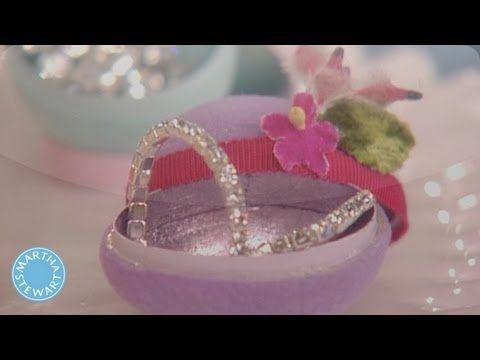 Flocked-Egg Jewelry Box - Martha Stewart