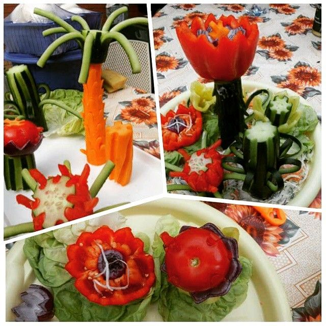 Creativity with my mom :) #creative #foodgasm #vegetables #carrot #cucumber #eat #pepper #red #green #eating #happiness #vegetable