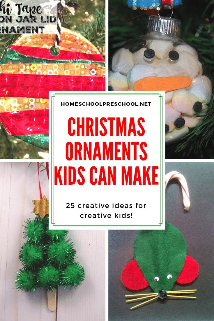 25 Creative Christmas Ornament Crafts For Kids To Make Kids Christmas Ornaments Christmas Ornament Crafts Christmas Crafts For Kids