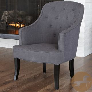 Christopher Knight Home Sophia Dark Grey Fabric Chair