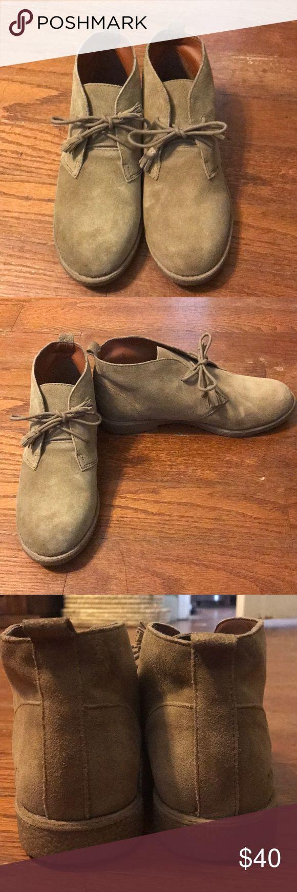 Lucky Brand Suede Chukka Booties Beige suede chukka boots. Never worn Lucky Brand Shoes Ankle Boots & Booties