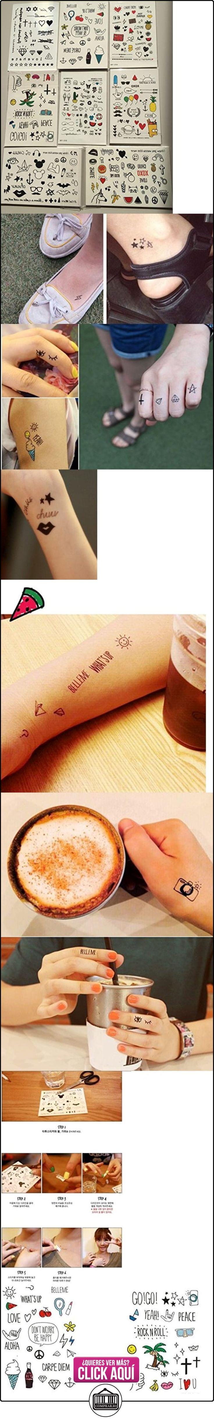 NOVAGO- 4 tablas de tatuajes éphémères, surtido hasardeux, diseño Mignon  ✿ Joyas para mujer - Las mejores ofertas ✿ ▬► Ver oferta: https://comprar.io/goto/B0165MY87C