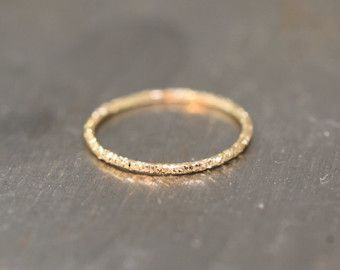 Nose Ring Diamond Cut / Cartilage Gold or by WireWrappedDesign
