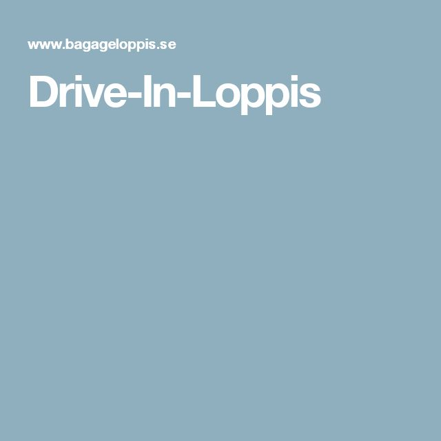 Drive-In-Loppis