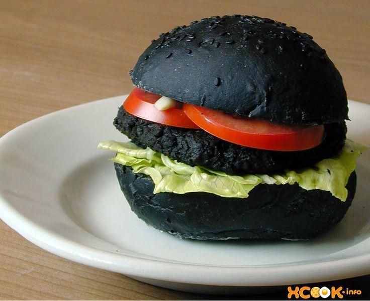 черный бургер готов!