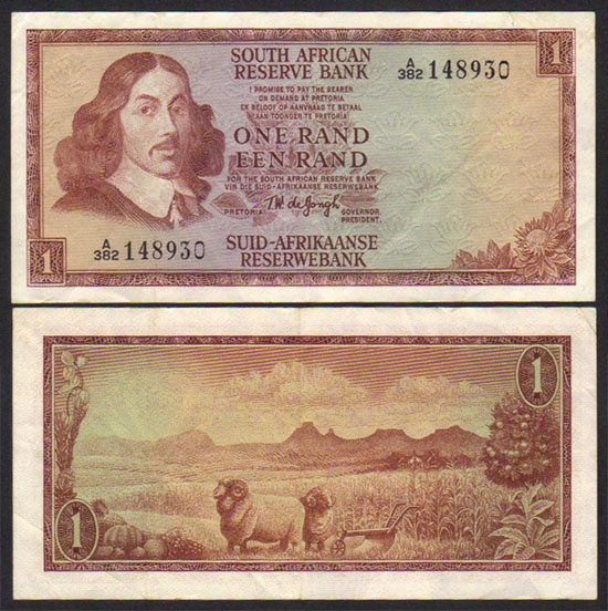 1967 South Africa 1 Rand.