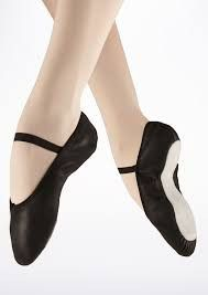 Black Leather Ballet Shoes Full sole leather ballet shoes from So Danca. These…
