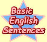 Learning basic English sentences