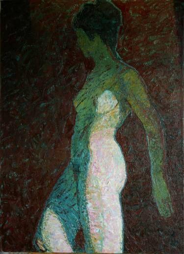"Saatchi Art Artist Svetlana Shebarshina; Painting, ""Touch the night"" #art"
