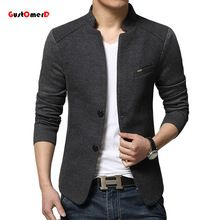 2015 New Mens Blazer Patchwork Suits For Men Top Quality Red Blazers Slim Fit Woolen Outwear Coat Costume Homme Blazer Men(China (Mainland))