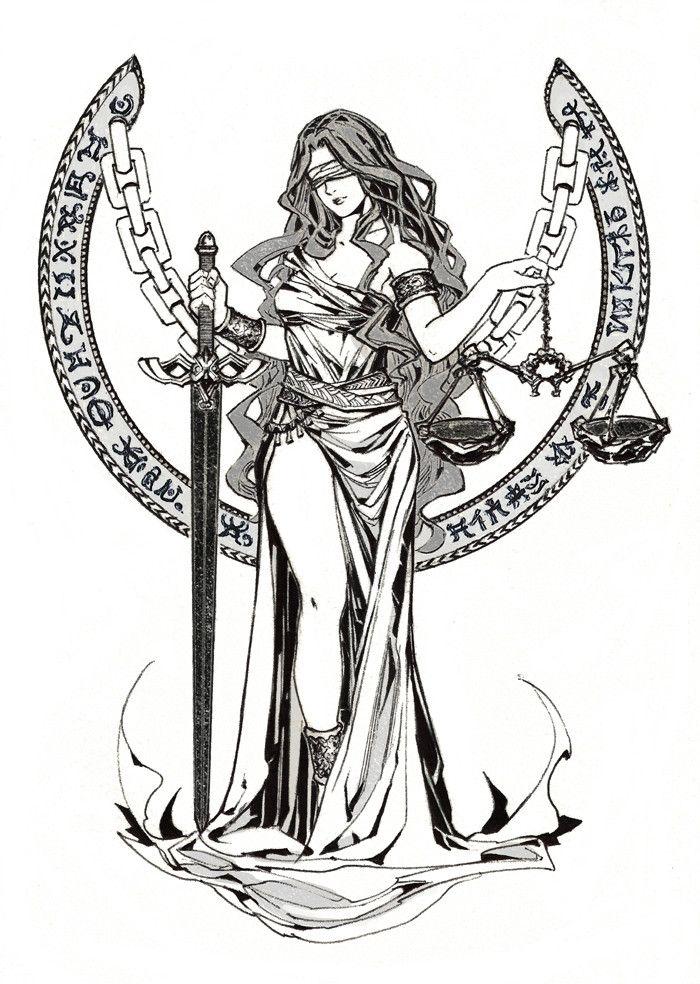 Image Result For Justice Goddess Tatuagem Justica Deusa Themis Tatoo