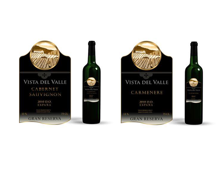 Etiquetas para botellas de vino Gran Reserva