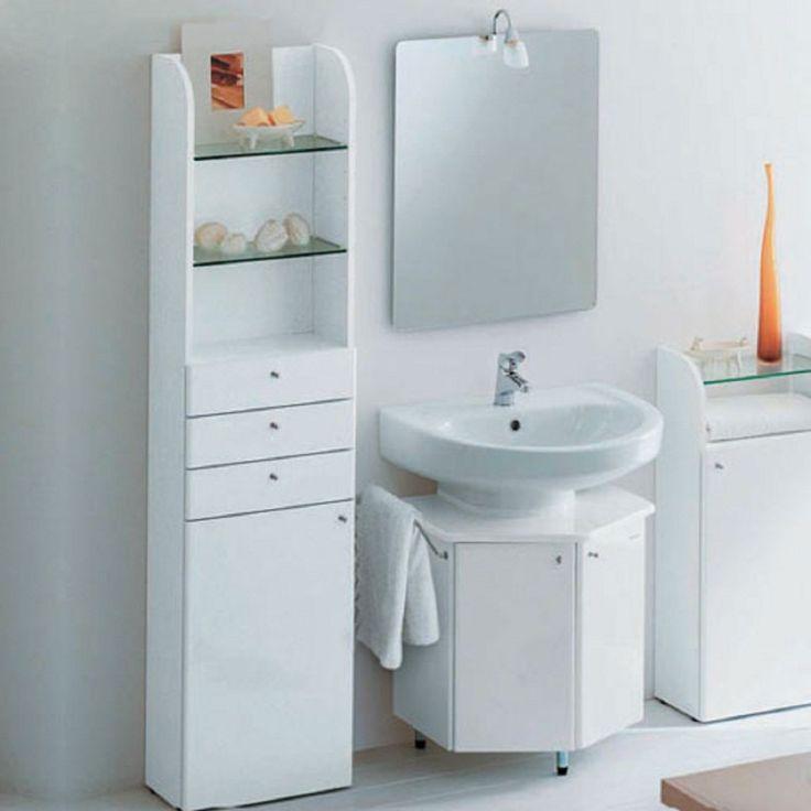 Die besten 25+ schmaler Badezimmerschrank Ideen auf Pinterest - eckschrank badezimmer weiß