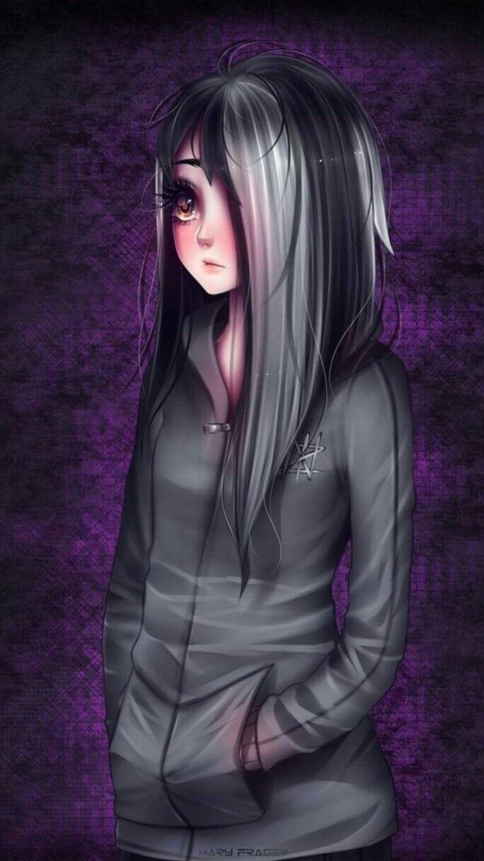 Pin By Emo Girl On Wallpapers Emo Art Dark Anime Anime Drawings