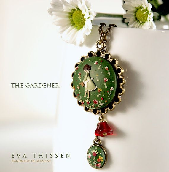 The Gardener. Beautiful hand made polymer clay by EvaThissen