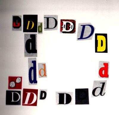 lettera D  ( L'Alfabetiere di Bruno Munari )
