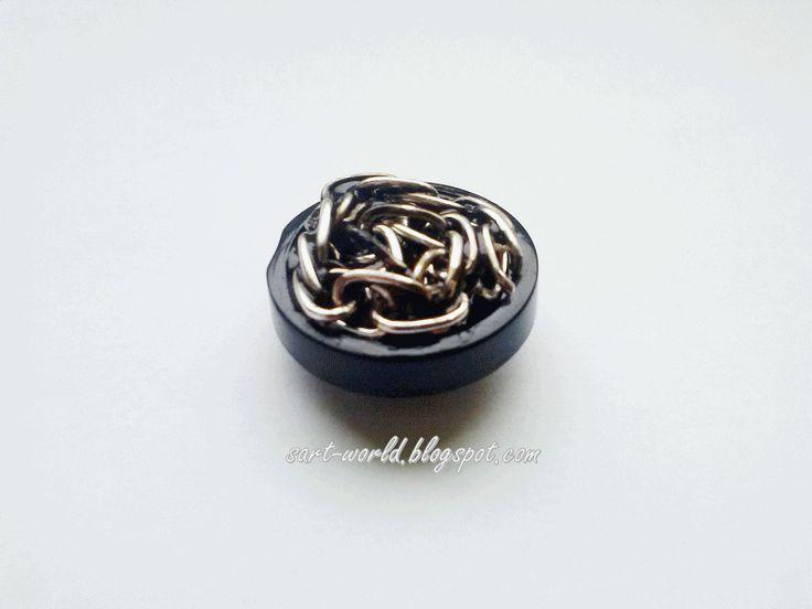 Mój własny kreatywny świat: Kaboszony z guzików w naszyjniku